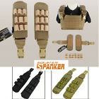 Airsoft Cordura MOLLE Shoulder Pad Cushion for Armor Carrier Tactical Vest BK/CB