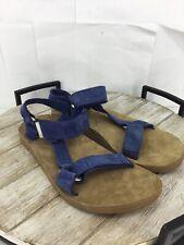 🦆TEVA Men's Blue Suede Sandals Size 9