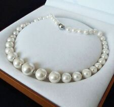 Jewelry 6X14mm White South Sea shell pearl Necklace 18''AAA no box