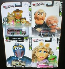 2012 Hot Wheels THE MUPPETS Pop Culture Diecast CARS Lot School Bus + 3 More HTF