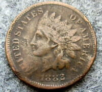UNITED STATES 1882 CENT INDIAN HEAD