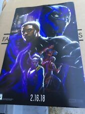 2017 SDCC EXCLUSIVE MARVEL Studio PROMO POSTER BLACK PANTHER T'CHALLA Clean RARE