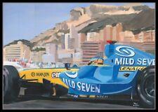 Painting 2006 Monaco GP winner Renault R26 #1 Fernando Alonso by Toon Nagtegaal