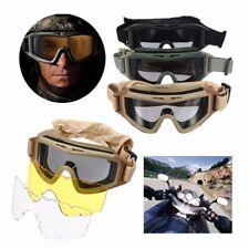 3 Lense CS Airsoft Tactical SWAT Goggles Anti Fog Glasses Eye Protection Mask