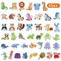 Baobë Magnetic Animals,Refrigerator Magnets for Kids,42 Pieces,Animals Fridge