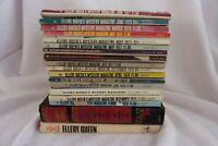 Vintage Lot of 18  Ellery Queen's Mystery Magazine 1970's  2 Hardback books