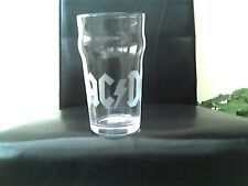 AC/DC Personalised Etched Engraved Beer Pint Glass