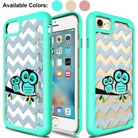 For iPhone 7/6/6s/8 Plus Cute Owl Shockproof Hybrid Rugged Hard Phone Case Cover