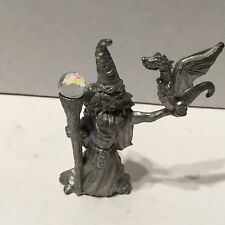 Wizard Dragon Pewter Figurine Statue Sculpture 1987 Spoontiques