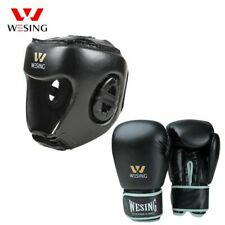 Boxing Training Equipment Sports Headgear Helmet Boxing Gloves Faux Leather