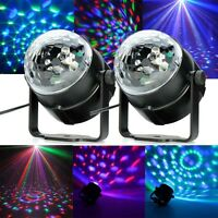 2x LED RGB DJ Club Disco Party Magic Ball Crystal efecto luz Iluminación OP