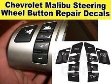 Corvette C6 Malibu Pontiac G6 Steering Wheel Button Repair Decals Stickers