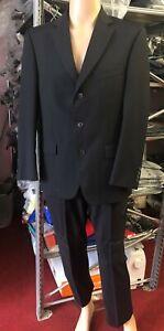 "Marks & Spencer 40"" Short Navy Tailoring Formal Work Wedding Office Smart Suit"