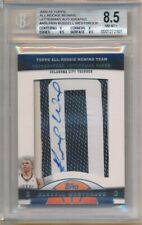 """RUSSELL WESTBROOK 2009/10 TOPPS RC ROOKIE AUTOGRAPH LETTER """"O"""" PATCH AUTO SP 5/7"""
