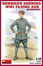 Hermann Goering WWI Flying Ace 1:16 Figure Plastic Model Kit MINIART