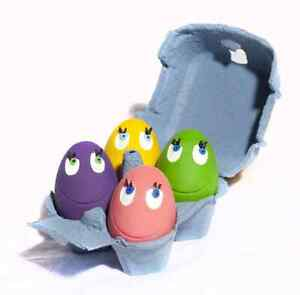 LANCO TOYS OVO THE EGG ORIGINAL 4-SET, FETCH TOY, IDEAL FOR SMALL & MEDIUM DOGS