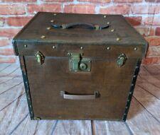 Rare German Antique/ Vintage 'Liprosta' Travel Hat Box - Luggage - Chest - Trunk