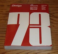 1973 Dodge Chassis Service Shop Manual 73 Challenger Charger Dart Coronet