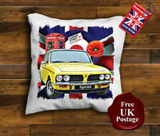 Dolomite Sprint Cushion Cover, Triumph Dolomite Cushion, Union Jack, Poppy,