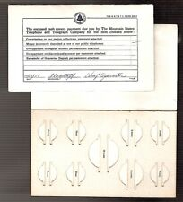 3 Mountain States TELEPHONE & TELEGRAPH 1958 COIN Overpaid Return Card  $3s&hUS