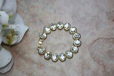 Elegant 18K Gold Plated Synthetic Zircon Crystal Bracelet AU Stock - Length 18cm