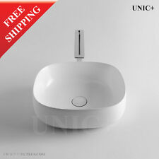 Small Artistic White Porcelain Ceramic Bathroom Vessel Sink Bowl Basin BVC009S