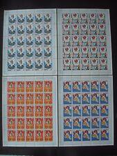 SENEGAL 1984  4 FULL SHEETS OLYMPIC GAMES MNH**