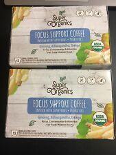 Super Organics Focus Support Coffee Brew Cups w/ Superfoods & Probiotics  2 pack