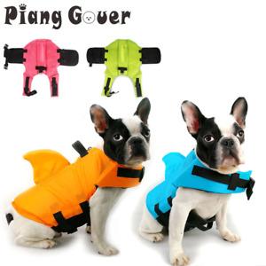 Dog Life Vest Summer Shark Pet Life Jacket Dog Clothes Dogs Swimwear Pets Suit
