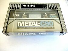 CASSETTE TAPE BLANK SEALED - 1x (one) PHILIPS METAL [1981-1983]  made in Belgium
