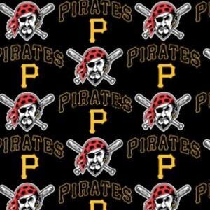 MLB Pittsburgh Pirates Cotton Fabric Major League Baseball Logo BTHY