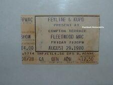 FLEETWOOD MAC Concert Ticket Stub '80 PHOENIX COMPTON TERRACE Stevie Nicks TUSK