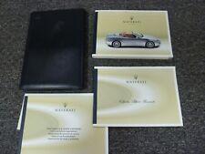 2003 Maserati Spyder Convertible Owner Manual User Guide GT Cambiocorsa 4.2L V8