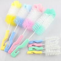 2x Baby Nipple Brush Bottle Brush 360 Degree Sponge Cleaner + Pacifier Brush