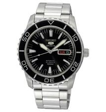 Seiko 5 Sports Silver Case Casual Wristwatches