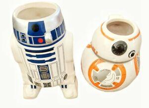 Original Star Wars Bundle R2D2 BB8 Ceramic Mug By ZAK! Lucasfilm Tea Coffee Set