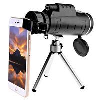 40X60 HD Mini 40X Monocular Telescope BAK4 Prism Scope + Phone Clip Tripod KY