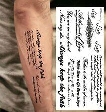 Einmal-Tattoo Temporary Tattoo  wasserdicht  90*193 mm  Neu