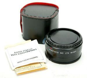 Photoco 1,7x MC Tele-Converter For Minolta & Sony AF Lenses. Japan. Clean. Case.