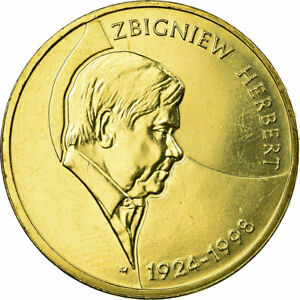 [#689822] Coin, Poland, 2 Zlote, 2008, Warsaw, MS(65-70), Brass, KM:634