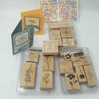 Stampin Up Embrace Life Kindness Heartfelt Thanks Rubber Stamps ABC/123 Lot 5