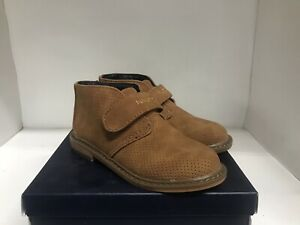 Nautica Puget Toddler Tan Suede Perf Dress Shoe Size 12