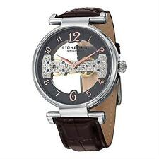 Stuhrling 667 02 Legacy Mechanical Skeleton Hand Wind Brown Leather Mens Watch