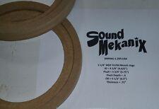 "MDF FLUSH Speaker Rings, 5 1/4"" FLUSH Mount 3/4"" Thick One Pair Made In USA"