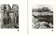 RARE 1968 Russian catalogue of works by Leningrad artists V.Zvontsov & V.Pimenov