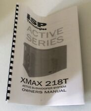 XMAX 218T ACTIVE SUBWOOFER SYSTEM OWNERS MANUAL