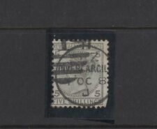 1878 New Zealand Victoria 5/- grey SG 186 short corner perforation fine used