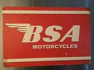 Retro Sign Motor Beer Spirits Garage Cave Bar Cafe Shed 30cm x 20cm BSA WINGS