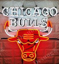 "New Chicago Bulls Bar Lamp Decor Glass Neon Light Sign 24"" Hd Vivid Printing"