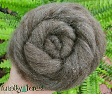 10 Feet Natural Brown Corriedale Dorset Wool Roving Felting Spinning Craft 1oz